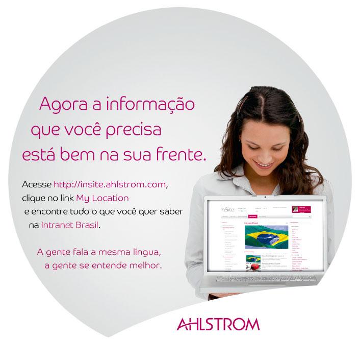 Campanha da intranet da ALHSTROM produzida pela Verge Parceria Estratégica - comunicação interna