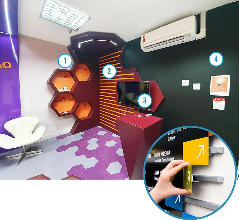Criação da sala de inovação da Janssen com projeto feito pela agência Verge parceria estratégica
