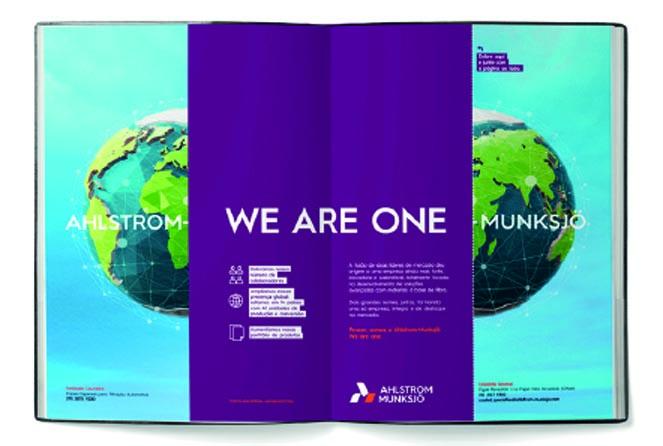 Campanha We are one fusão da Ahlstrom munksjo produzida pela Verge Parceria Estratégica