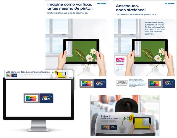 Campanha do App Visualizer - AkzoNobel - Tintas Coral e Dulux