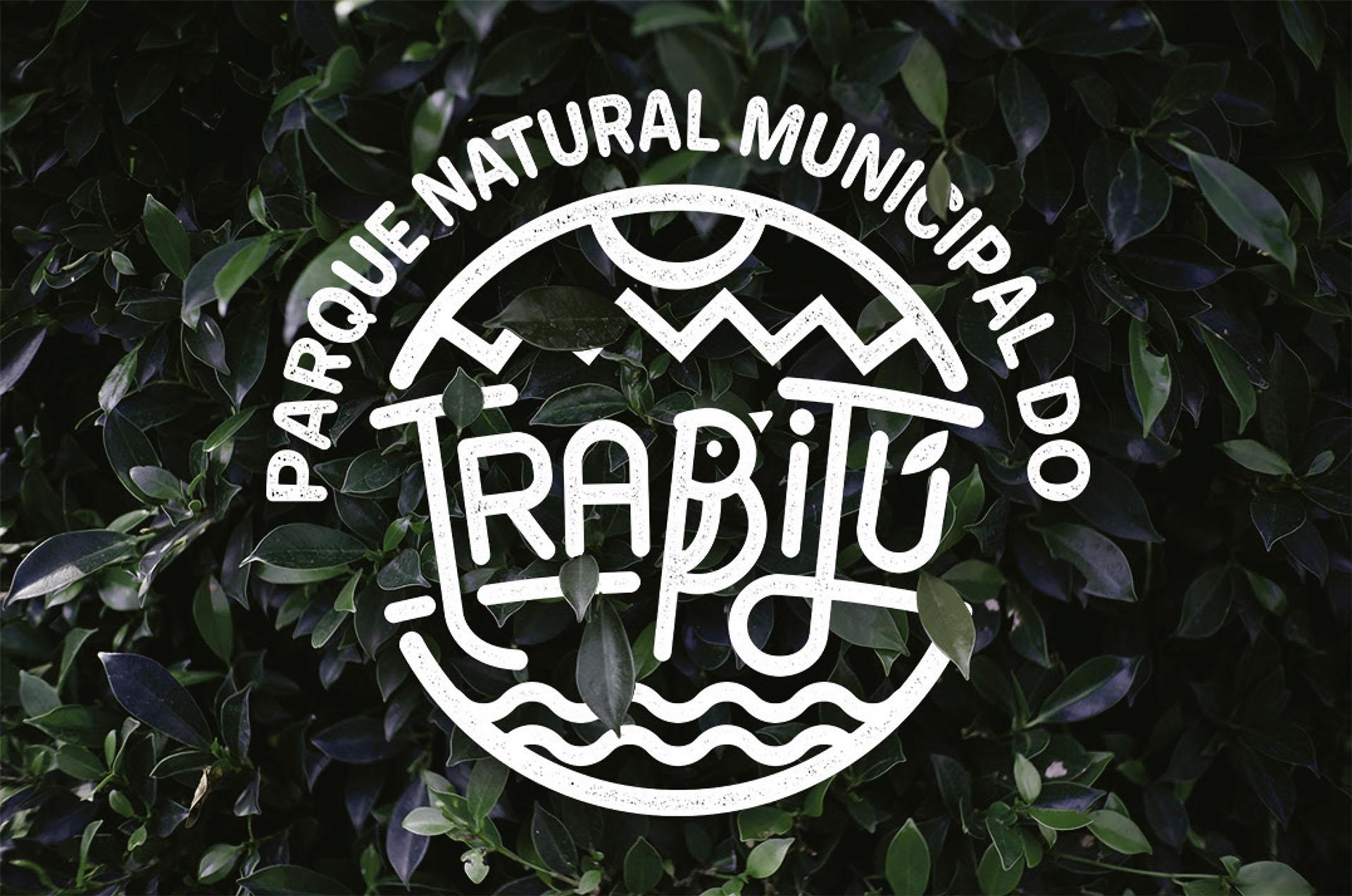 Aplicação do Logotipo Negativo do Parque Natural Municipal do Trabijú