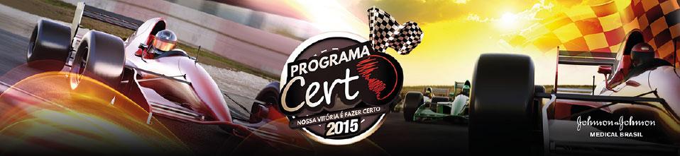 Logo do evento para colaboradores do Programa Certo da Johnson & Johnson Medical Brasil